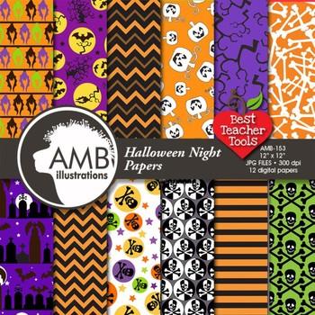 Halloween Night scrapbook papers AMB-153