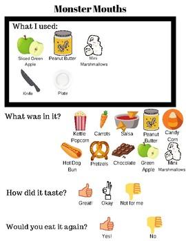 Halloween No Bake Visual Recipe - Monster Mouths - FREEBIE!