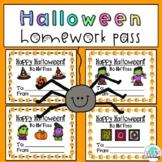 Halloween No Homework Pass