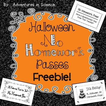 Halloween No Homework Passes