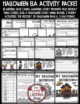 Halloween Writing & Poetry Activities