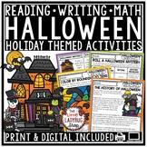 Halloween Writing Activities & Halloween Poetry October Writing Prompts