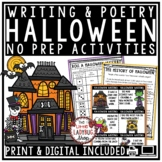 Halloween Writing Activities & Halloween Poetry October Wr