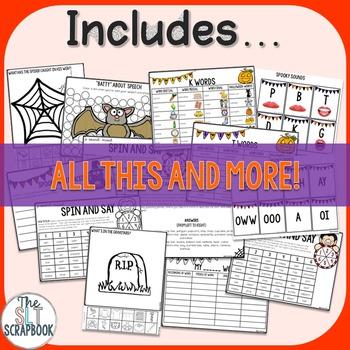 Halloween Articulation/Phonology Worksheets- No Prep