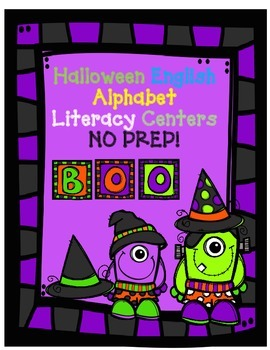 Halloween Literacy Worksheets:  No Prep English Alphabet