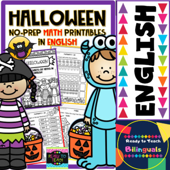 No-Prep Printables - Math Halloween in English
