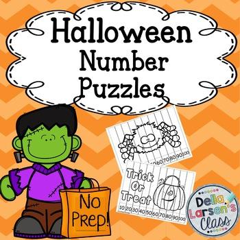 Halloween  No Prep Number Puzzles