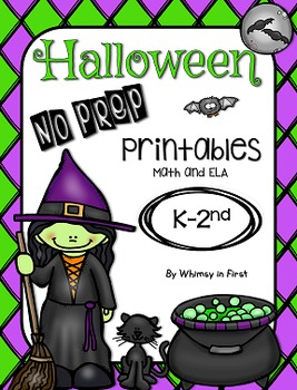 Halloween No Prep Printables K, 1st, 2nd