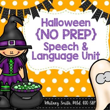 Halloween {No Prep} Speech & Language Unit