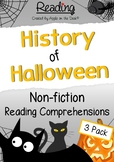 Halloween Non-Fiction Reading Comprehensions - 3 Pack