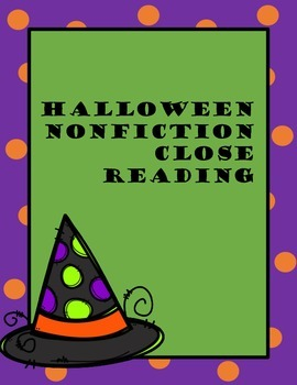 Halloween Nonfiction Close Reading