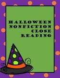 Halloween Nonfiction Close Reading