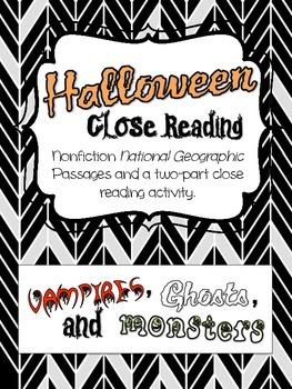 Halloween Nonfiction Close Reading Activitiy