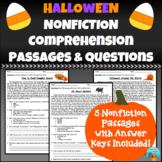 Halloween Nonfiction Comprehension Passages
