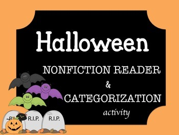 Halloween Nonfiction Emergent Reader and Categorization Activity