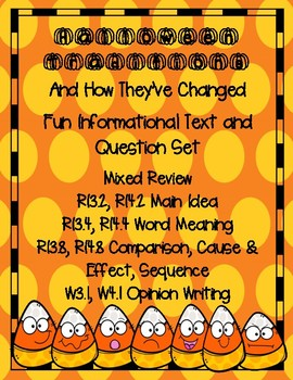 Halloween Nonfiction Mixed Review Cause & Effect Main Idea Opinion Writing