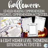 Halloween Reading Comprehension Activity: Leveled Texts &