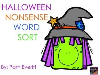 Halloween Nonsense Word Sort