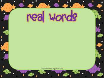 Halloween Nonsense Word Sort - perfect for NWF practice