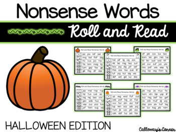 Halloween Nonsense Words-EDITABLE POWERPOINT INCLUDED