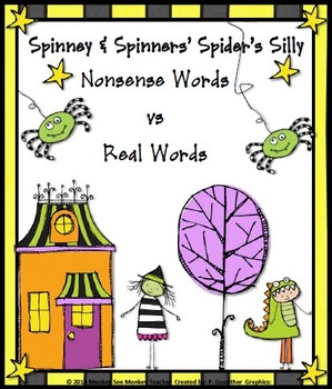 Halloween Nonsense Words Game: Spinney & Spinner Silly  Real vs Nonsense