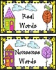 Halloween Nonsense Words Game: Spinney & Spinner Silly  Real vs Nonsense