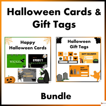 Halloween Note Cards and Gift Tags Bundle