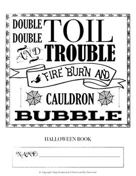 Halloween Notebook (Reading, Writing, Math Tasks & More!)