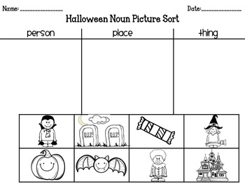 Halloween Noun Activities