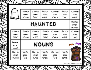 Halloween Noun Freebie