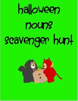 Halloween Noun Scavenger Hunt