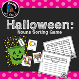 Halloween Noun Sorting Mats with Recording Sheets and Writ