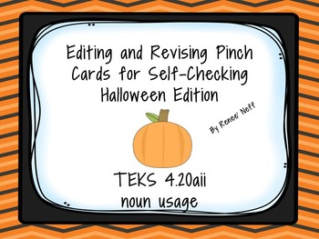 Halloween Noun Usage Task Cards