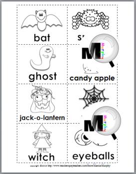 Nouns and Verbs Sort - Halloween Theme