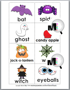 Nouns and Verbs Sort - Halloween Theme