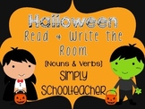 Halloween Noun/Verb Read & Write the Room