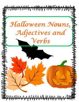 Halloween Nouns, Adjectives and Verbs