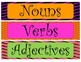 Halloween Nouns, Adjectives, and Verbs Sort