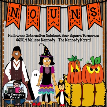 Nouns Interactive Notebook Turnovers {Halloween}