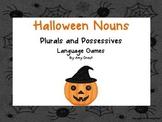 Halloween Nouns: Plurals and Possessives Games