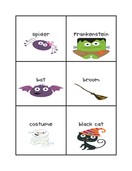 Halloween Nouns Read and Write the Room