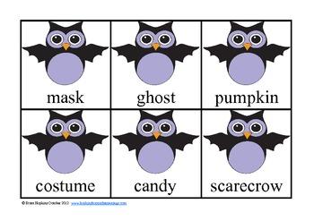 Halloween Nouns Sorting