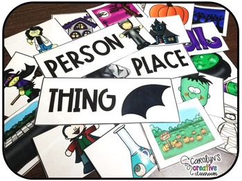Halloween Nouns - Sorting Nouns Person, Place, and Thing