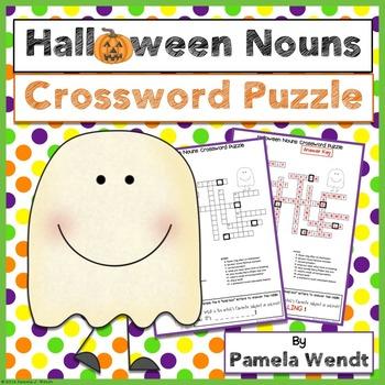 Halloween Nouns Vocabulary Crossword Puzzle Activity
