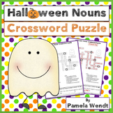 Halloween Nouns Vocabulary Crossword Puzzle Activity