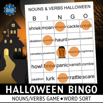 Halloween Nouns and Verbs Activities