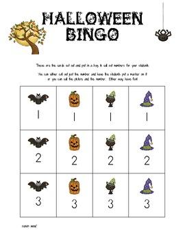 Halloween Number Bingo