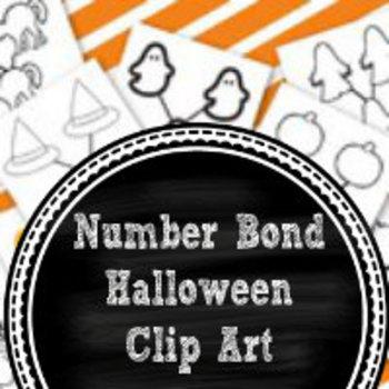Halloween Number Bond Clipart:  16 jpg/png files