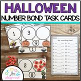 Halloween Number Bond Task Cards 1-10 Center