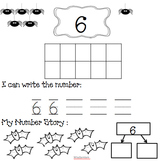 Halloween Math Number Book 1-10 Singapore Unit 2 and 3